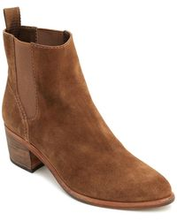 Dolce Vita - Women's Colbey Nubuck Leather Chelsea Booties - Lyst