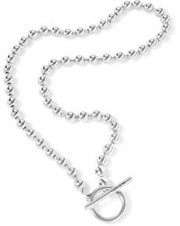 Uno De 50 Silverplated Beaded Necklace - Metallic