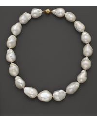 Bloomingdale's - Baroque Freshwater Pearl Necklace In 14k Yellow Gold - Lyst