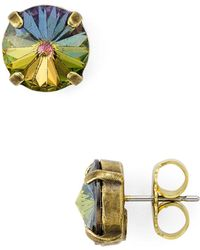 Sorrelli - Circle Stud Earrings - Lyst