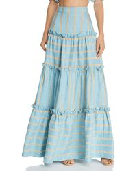 Paper London Coquillage Maxi Skirt - Blue