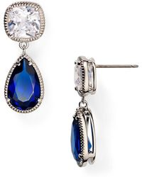 Carolee - Uptown Girl Double Drop Earrings - Lyst