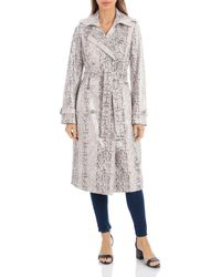 Avec Les Filles Snake Print Double - Breasted Trench Coat - Multicolour