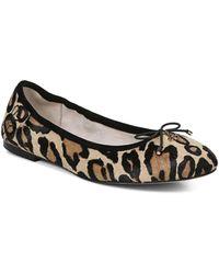 Sam Edelman Felicia Round Toe Leopard Print Calf Hair Ballet Flats - Multicolor