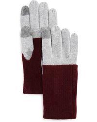 Aqua - Fold-over Tech Gloves - Lyst
