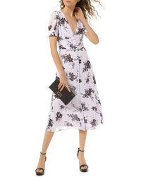 Michael Kors Floral Georgette Button-front Dress - Multicolour