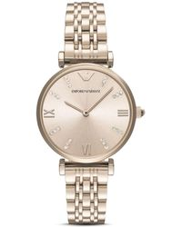 Armani Emporio Women's Two Hand Rose Gold - Tone Stainless Steel Watch - Metallic