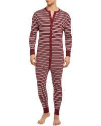 2xist Long John Onesie Union Suit - Red