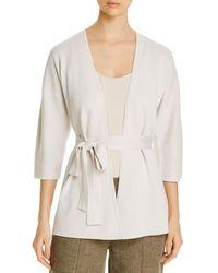 Eileen Fisher Silk & Organic Cotton Belted Cardigan - White