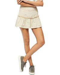 Free People - Positano Tiered Mini Skirt - Lyst