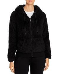 Marc New York Performance Faux Fur Hooded Jacket - Black