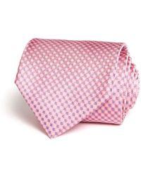 Bloomingdale's Micro Grid Classic Tie - Pink