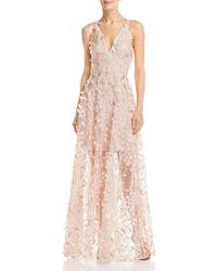 Aqua - Embellished Illusion Gown - Lyst