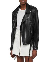 AllSaints - Annina Leather Biker Jacket - Lyst