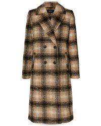 Vero Moda Hailey Check Print Coat - Brown