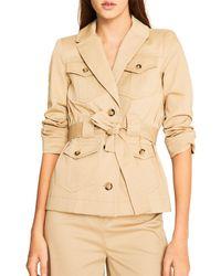 Ba&sh Muse Belted Jacket - Natural