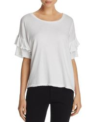 Current/Elliott - The Ruffle Roadie Tee - Lyst