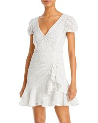 Bardot Nadia Eyelet Tie Back Dress - White