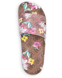 Guess Savan Floral Pool Slide Sandals (39% Off) - Comparable Value $49 - Multicolour