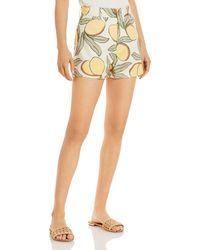Rebecca Taylor Lemon Print Shorts - Multicolour