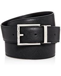 Bally Men's Astor Reversible Leather Belt - Black