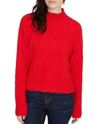 Sanctuary Teddy Mock Neck Sweater - Red