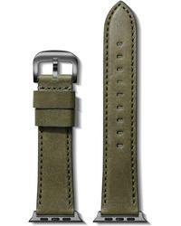 Shinola Essex Leather Strap For Apple Watch® - Green