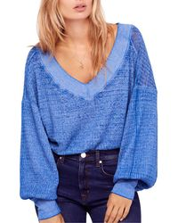 Free People - South Side Thermal Sweater - Lyst