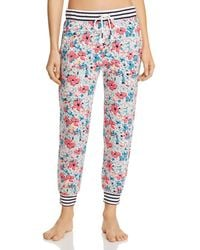 Jane And Bleecker Floral Striped Jogger Pants - Multicolor