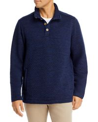 Tommy Bahama Quilted Mock Neck Sweatshirt - Blue