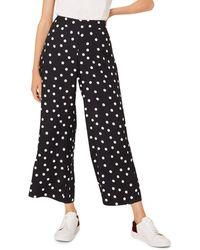 Hobbs Lauren Printed Trousers - Black