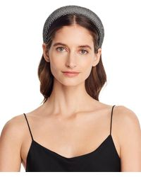 Aqua Embellished Padded Headband - Black