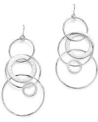 Ippolita - Sterling Silver Glamazon® Large Link Jet Set Earrings - Lyst