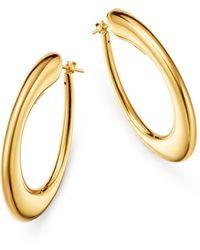 Roberto Coin 18k Yellow Gold Oro Hoop Earrings - Metallic