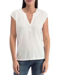 B Collection By Bobeau Holland Pleat - Back Knit Top - White