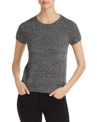 C By Bloomingdale's Short - Sleeve Cashmere Sweater - Black