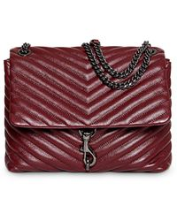 Rebecca Minkoff Edie Quilted Leather Crossbody - Red