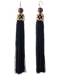 Trina Turk - Statement Tassel Earrings - Lyst