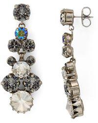 Sorrelli - Swarovski Crystal Cluster Drop Earrings - Lyst