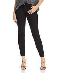 Aqua Velvet - Stripe Skinny Jeans In Black