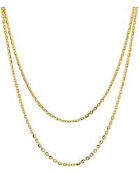 Argento Vivo Double Strand Necklace In 18k Gold - Plated Sterling Silver - Metallic