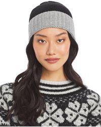 Aqua Colorblock Knit Hat - Black