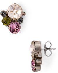 Sorrelli Round Crystal Earrings - Multicolour