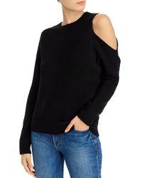Aqua Cashmere Cutout Cashmere Jumper - Black