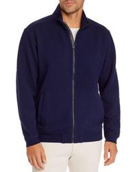Tommy Bahama Quilted Zip - Front Jacket - Blue