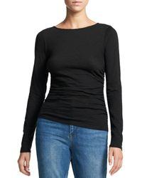 Theory Nebulous Long Sleeve Top - Black