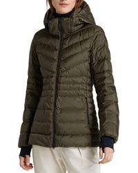 Woolrich Tech Hooded Puffer Coat - Green