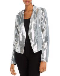 Blank NYC Sequined Open - Front Blazer - Metallic