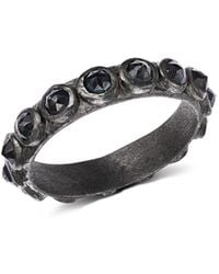 Armenta - Blackened Sterling Silver New World Rose-cut Black Spinel Ring - Lyst