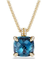 David Yurman - Châtelaine Pendant Necklace With Hampton Blue Topaz And Diamonds In 18k Gold - Lyst